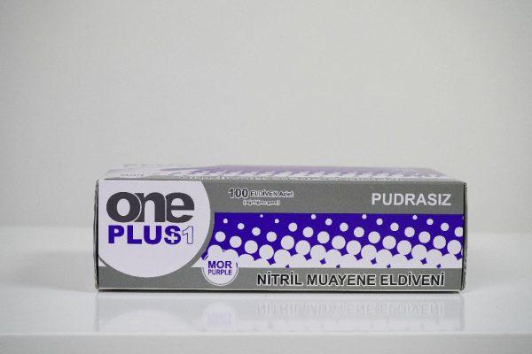One Plus +1 Nitril Pudrasiz Muayene Eldiveni mor Toptan Satış Üretici (1)