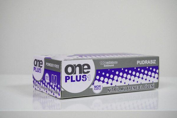 One Plus +1 Nitril Pudrasiz Muayene Eldiveni mor Toptan Satış Üretici (2)