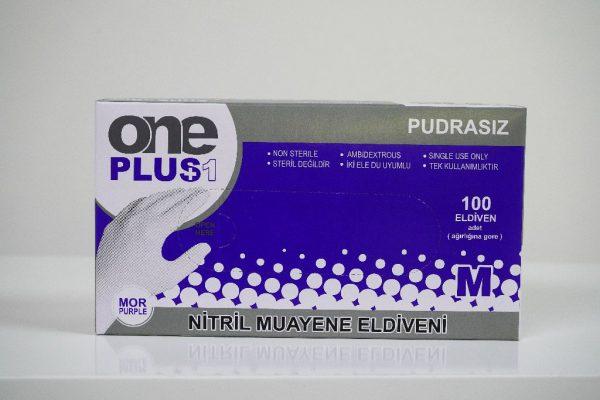 One Plus +1 Nitril Pudrasiz Muayene Eldiveni mor Toptan Satış Üretici (3)