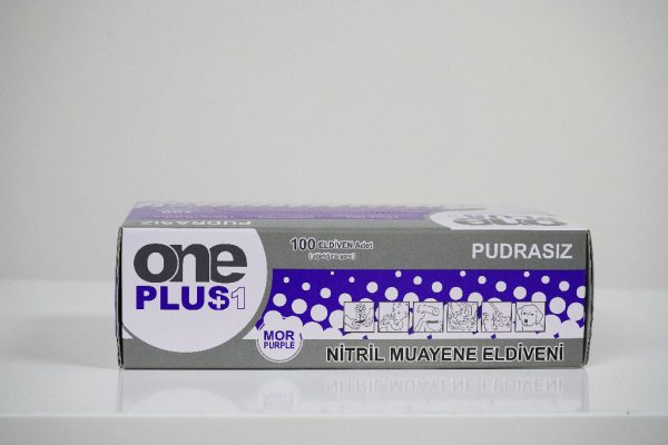 One Plus +1 Nitril Pudrasiz Muayene Eldiveni mor Toptan Satış Üretici (5)