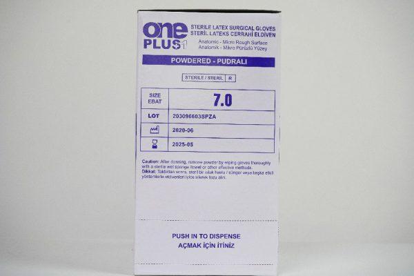 One Plus +1 Lateks Cerrahi Eldiveni Pudralı Toptan Satış Üretici (1)