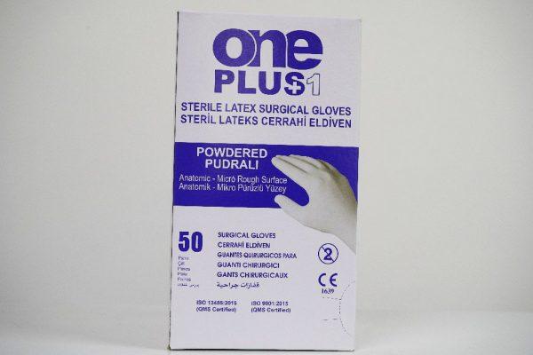 One Plus +1 Lateks Cerrahi Eldiveni Pudralı Toptan Satış Üretici (4)
