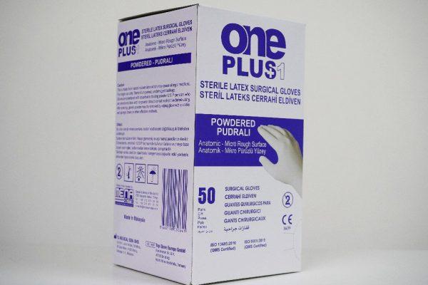 One Plus +1 Lateks Cerrahi Eldiveni Pudralı Toptan Satış Üretici (5)