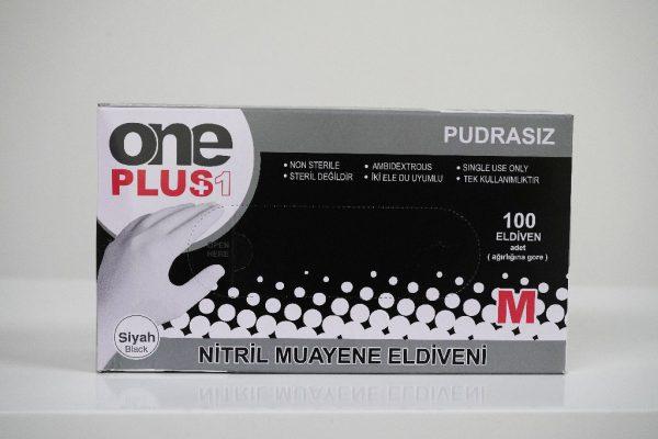 One Plus +1 Nitril Muayene Eldiveni Siyah Toptan Satış Üretici (3)
