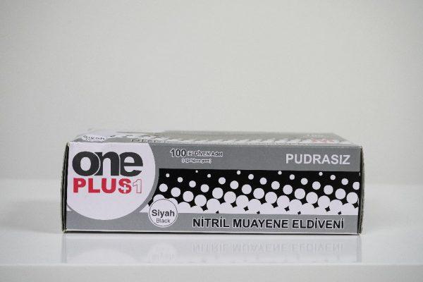 One Plus +1 Nitril Muayene Eldiveni Siyah Toptan Satış Üretici (5)